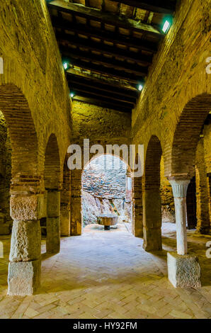 The Almonaster la Real mosque was an Islamic oratory, built during the Caliphate of Cordoba between the 9th and - Stock Photo