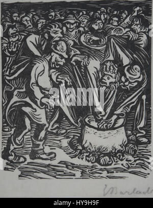Ernst Barlach Der Kessel Stock Photo, Royalty Free Image: 162224646 ...