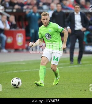 Leverkusen, Germany2nd April 2017, Bundesliga, matchday 2, Bayer 04 Leverkusen vs VfL Wolfsburg: Jakub Blaszczykowski - Stock Photo
