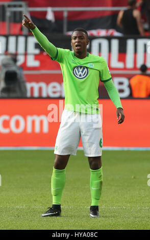 Leverkusen, Germany2nd April 2017, Bundesliga, matchday 2, Bayer 04 Leverkusen vs VfL Wolfsburg: Riechedly Bazoer - Stock Photo