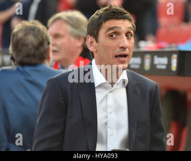 Leverkusen, Germany2nd April 2017, Bundesliga, matchday 2, Bayer 04 Leverkusen vs VfL Wolfsburg: Manager Tayfun - Stock Photo