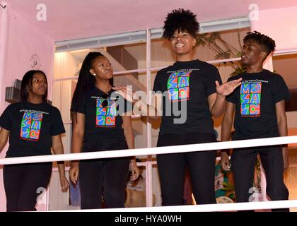 Detroit, Michigan, USA. 01st Apr, 2017. Atmosphere at Allee Willis' Detroit Party' benefitting the Mosaic Youth - Stock Photo