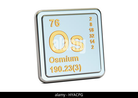 Symbol For The Chemical Element Osmium Stock Photo 59916876 Alamy