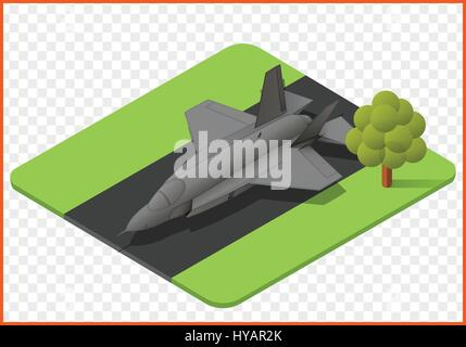 fighter jet vector - Stock Photo