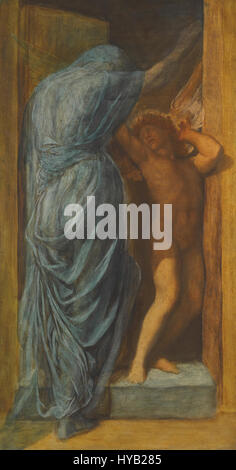 George Frederic Watts   Love and Death - Stock Photo