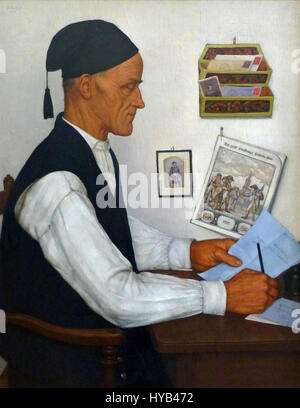 Gustave Stoskopf Le Messager boiteux 1935 - Stock Photo