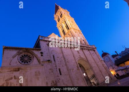 Trogir Cathedral, Trogir, Split-Dalmatia, Croatia - Stock Photo