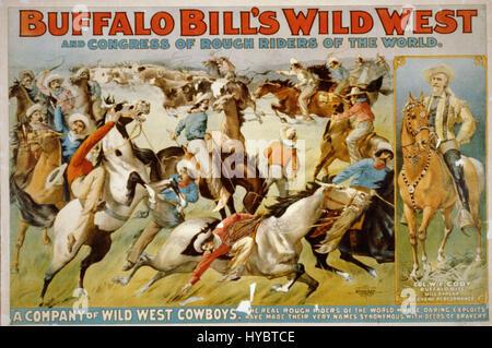 Buffalo bill wild west show c1899 - Stock Photo