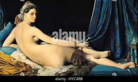 Jean Auguste Dominique Ingres, La Grande Odalisque, 1814 - Stock Photo