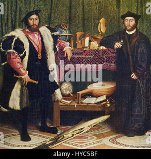 Hans Holbein the Younger (1497-1543) was an outstanding artist of German Renaissance. He spent early half of life - Stock Photo