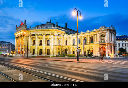 Vienna, Austria. The Burgtheater (Imperial Court Theater) is the Austrian National Theatre and one of the most important - Stock Photo