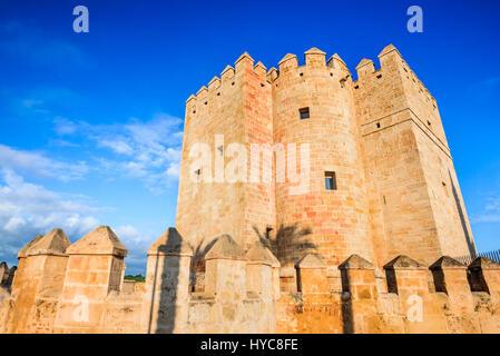 Cordoba, Spain, Andalusia. Callahora Tower and Roman Bridge on Guadalquivir river. - Stock Photo