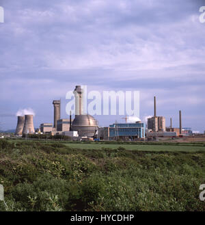 Sellafield Nuclear power station 1984 Sellafield is a nuclear fuel reprocessing and nuclear decommissioning site, - Stock Photo