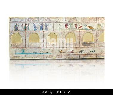 Roman Frescoes of the The Large Columbarium in Villa Doria Panphilj, Rome. A columbarium is usually a type of tomb - Stock Photo