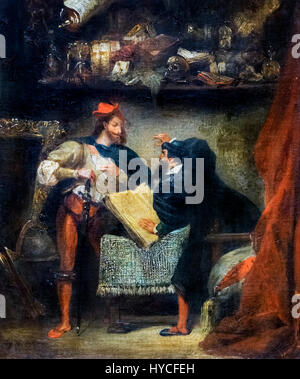 Faust and Mephistopheles by Eugene Delacroix, oil on canvas, c.1827-28 - Stock Photo