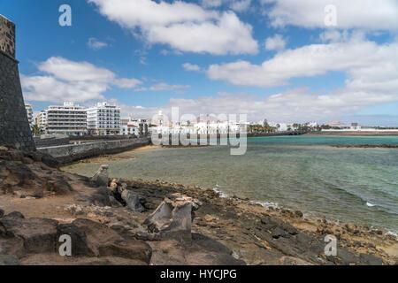 Hauptstadt Arrecife, Insel Lanzarote, Kanarische Inseln, Spanien |   the island capital Arrecife,  Lanzarote, Canary - Stock Photo