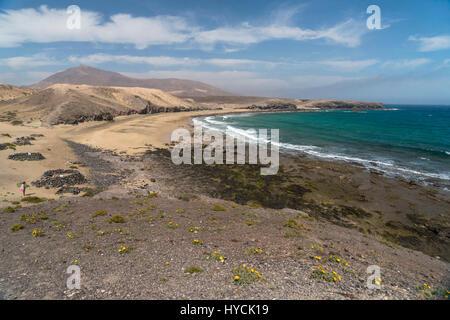 Strand  Caleta del Congrio, Playas de Papagayo bei Playa Blanca, Insel Lanzarote, Kanarische Inseln, Spanien |  - Stock Photo