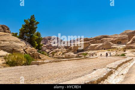 Road to the Siq at Petra - Stock Photo