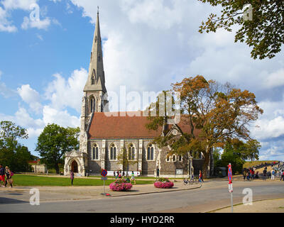 COPENHAGEN, DENMARK - AUGUST 22, 2014: St. Alban's Church, locally often referred to simply as the English Church, - Stock Photo
