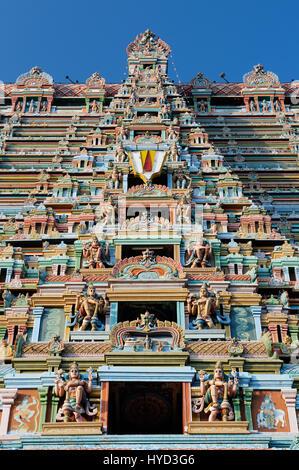 Srirangam Hindu Temple in Trichy. Is the famous Vaishnavite temple dedicated to Sri Ranganathaswamy Tamil Nadu, - Stock Photo