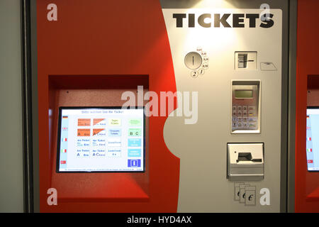 DEU, Germany, Ruhr area, Bochum, subway station Lohring, ticket machine - Stock Photo