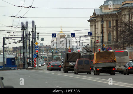 Detail from the streets of Sankt-Peterburg, Russia - Stock Photo