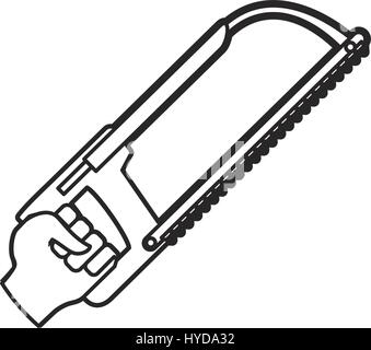 hand coping saw carpentry tool vector icon illustration - Stock Photo