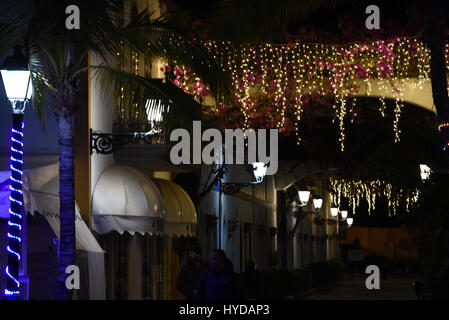 Christmas decoration in Gran Canaries Spain - Stock Photo