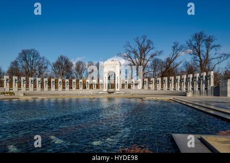 World War II Memorial - Washington, D.C., USA - Stock Photo