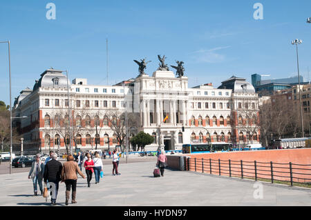 Ministerio de Agricultura (Ministry of Agriculture) building, Madrid, Spain - Stock Photo