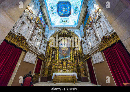 Altar of Church of Saint Ildefonso of Toledo in Santo Ildefonso civil parish of Porto city, second largest city - Stock Photo