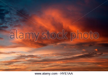 Sunset over Tahiti - Stock Photo
