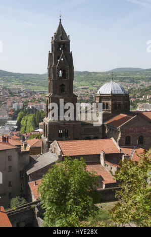 France, Le Puy en Velay, Cathedral Notre Dame - Stock Photo