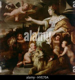 Luca Giordano (Italian (Neapolitan)   Allegory of Magnanimity   Google Art Project - Stock Photo