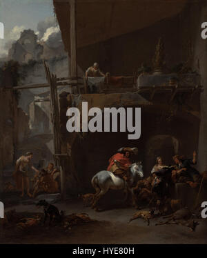 Nicolaes Berchem (Dutch   The Return from the Hunt   Google Art Project - Stock Photo