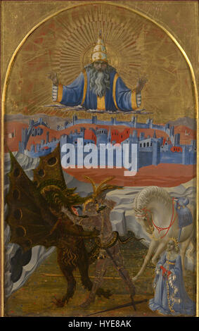 Paolo Uccello   St George slaying the dragon   Google Art Project - Stock Photo