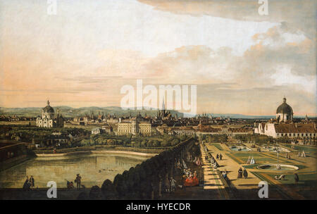 Bernardo Bellotto, called Canaletto   Vienna Viewed from the Belvedere Palace   Google Art Project - Stock Photo