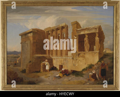 Charles Lock Eastlake   The Erechtheum, Athens, with Figures in the Foreground   Google Art Project - Stock Photo