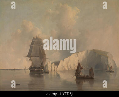 Edward William Cooke   Off the Needles, Isle of Wight   Google Art Project - Stock Photo