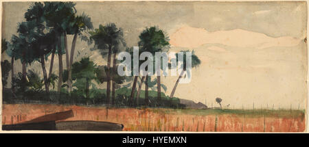 Winslow Homer   Palm Trees, Red - Stock Photo