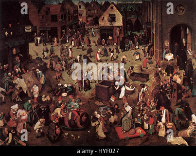 Pieter Bruegel the Elder   The Fight between Carnival and Lent   WGA3373 - Stock Photo