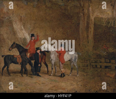 Benjamin Marshall   Foxhunting Scene   Google Art Project - Stock Photo