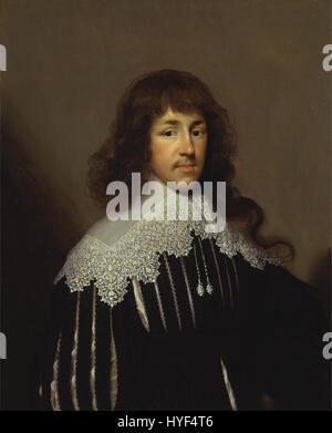 Cornelius Johnson   Portrait of a Man, Probably Sir Francis Godolphin   Google Art Project - Stock Photo