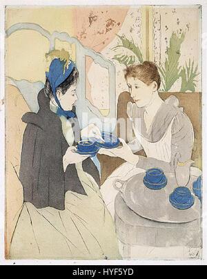 Mary Cassatt   Afternoon Tea Party - Stock Photo