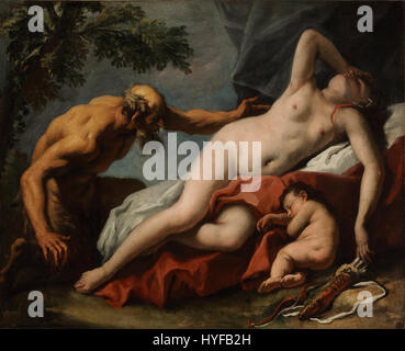 Sebastiano Ricci   Venus and Satyr   Google Art Project - Stock Photo