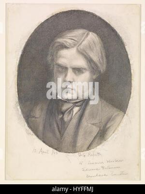 Dante Gabriel Rossetti   Portrait of William Holman Hunt (1827 1910)   Google Art Project - Stock Photo