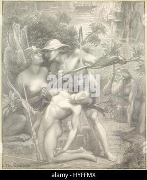 Dante Gabriel Rossetti   The Question, the Sphinx   Google Art Project - Stock Photo