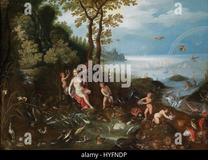 Jan Brueghel II, Jan van Balen   Allegory of Water - Stock Photo