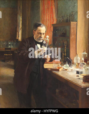 Albert Edelfelt   Louis Pasteur   1885 - Stock Photo