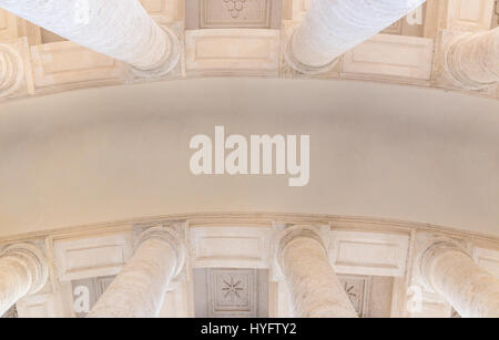 The ceiling between the columns in St. Peter's Square in the Vatican. Rome. Italy. - Stock Photo